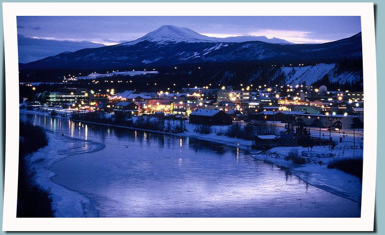 Whitehorse at night - our qaint little capital of teh Yukon