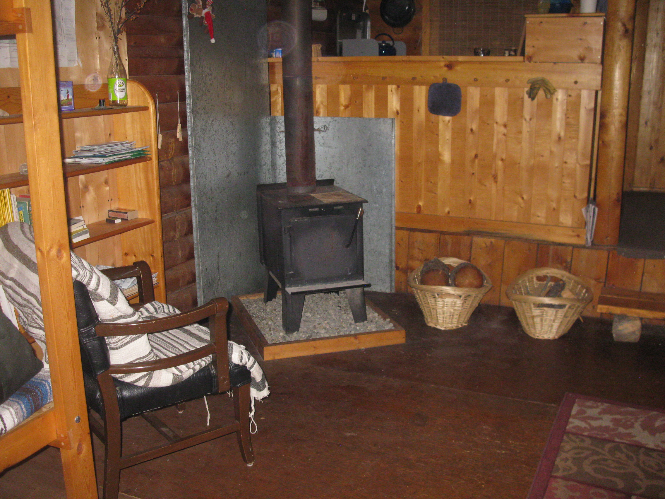 cabin rental wood stove