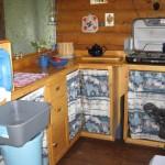 Kitchen area in Kluane Cabin