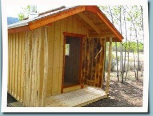 Personal Sauna at Ibex Valley Log Cabin
