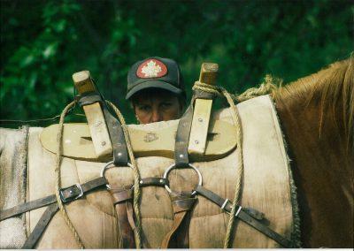 Liz behind packhorse
